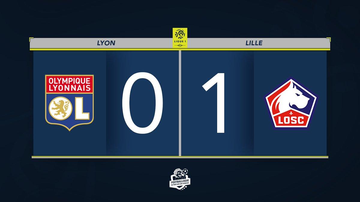 [#L1🇫🇷] LYON 0-1 LILLE ⏱ FIN DU MATCH ! ⚽️ Ikone Excellente opération pour Lille qui remonte provisoirement à la 4e place ! #OLLOSC