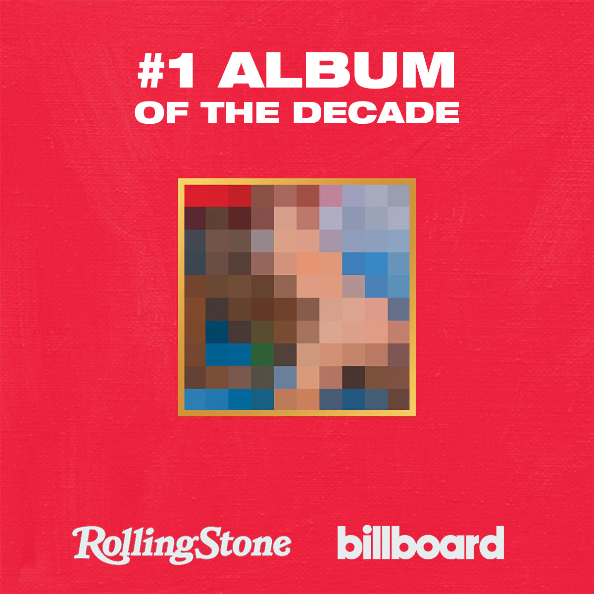 Kanye West's 'My Beautiful Dark Twisted Fantasy' has been named the #1 album of the decade by both Rolling Stone and Billboard. Congrats, @kanyewest!