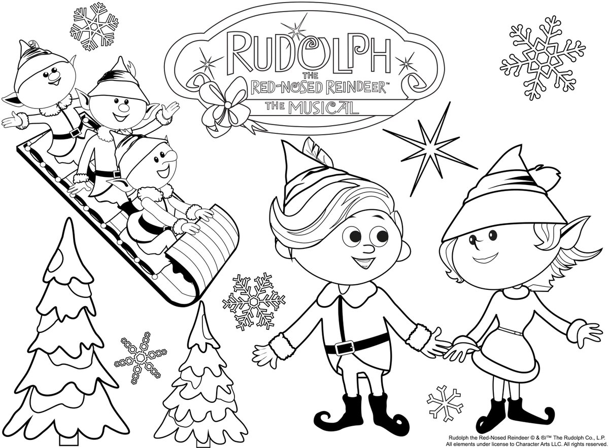 Dolly And Other Misfit Toys From Rudolph Coloring Page | Rudolph ... | 884x1200