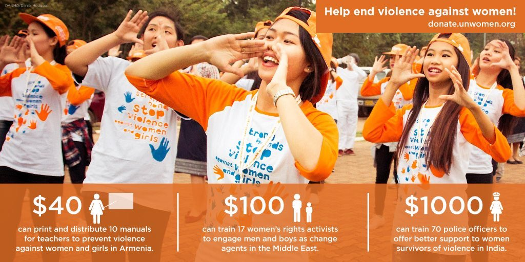 9. Invest in women. #orangetheworld #16days 👉 donate.unwomen.org