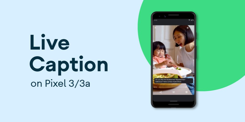 Live Caption is rolling out to #pixel3 and 3A 📱. Now, more users can caption anything, including videos, podcasts and audio messages without wifi or data. #IDPWD