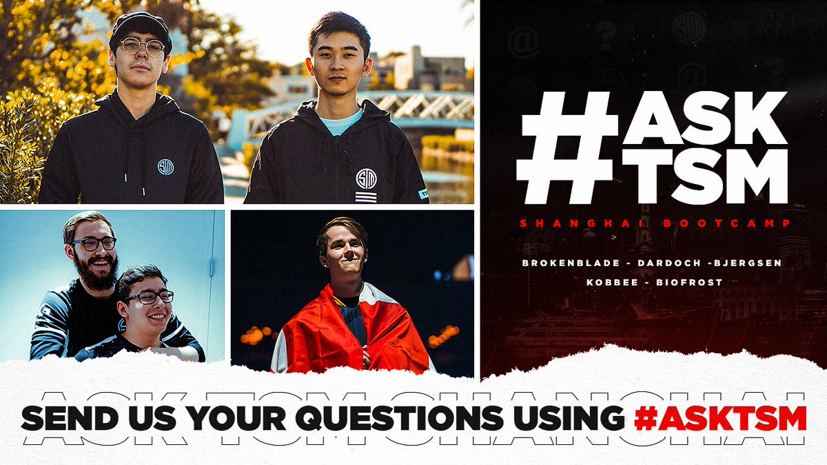 Have questions for our 2020 #LCS squad? Theyre ready to answer! Tweet us using the tag #AskTSM to be featured in the video! 📃