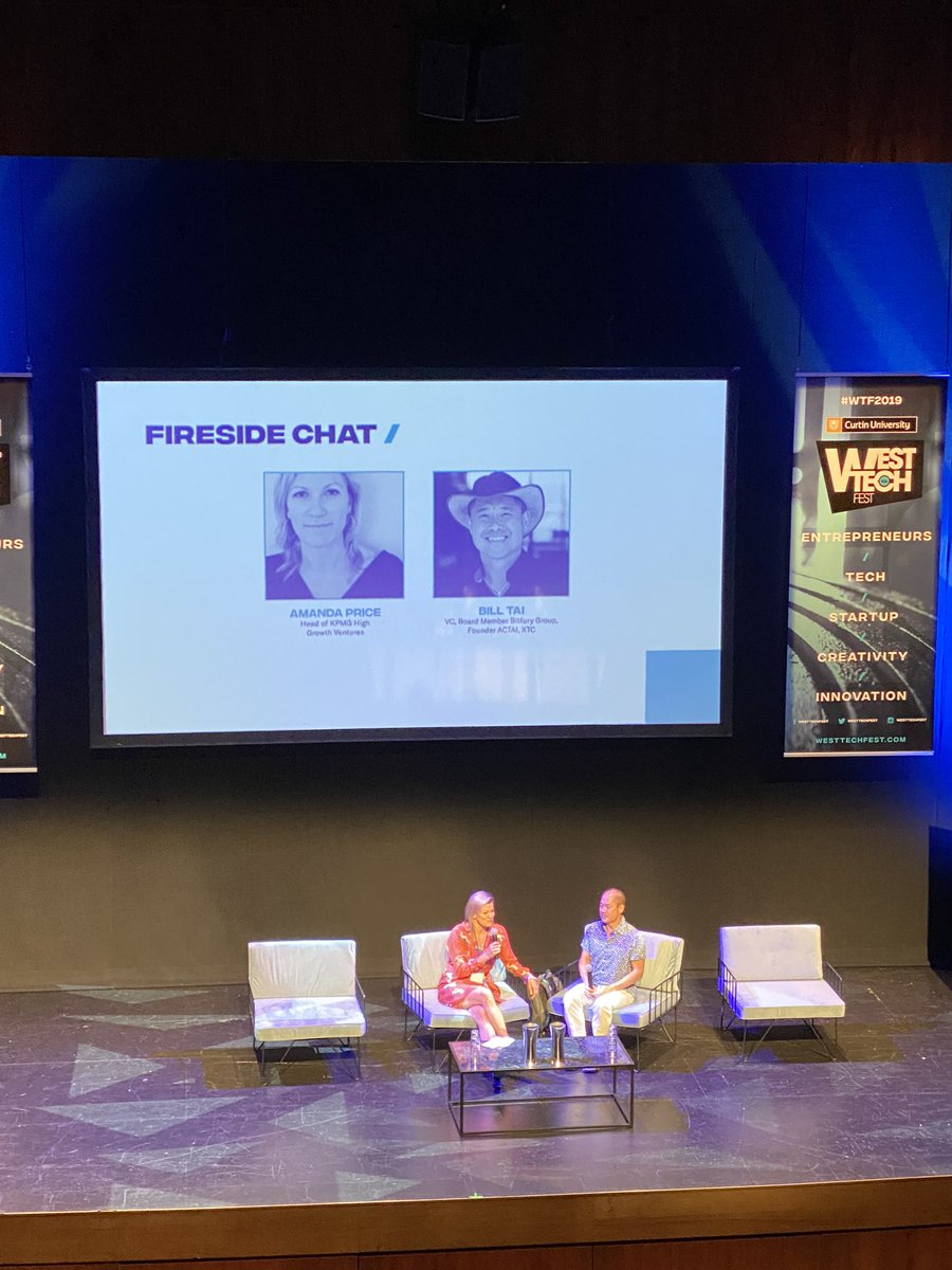 """""""You don't make the wave, you ride it""""- Great session to kickoff at @WestTechFest with @KiteVC & @amandaprice1002 #WTF2019 #startupauspic.twitter.com/jtUWigS2Fo"""