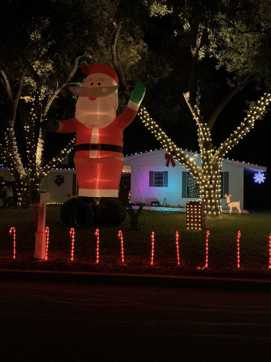 This simply has to be the biggest inflatable ever created. It's easily 2 stories tall. #windcrestlights