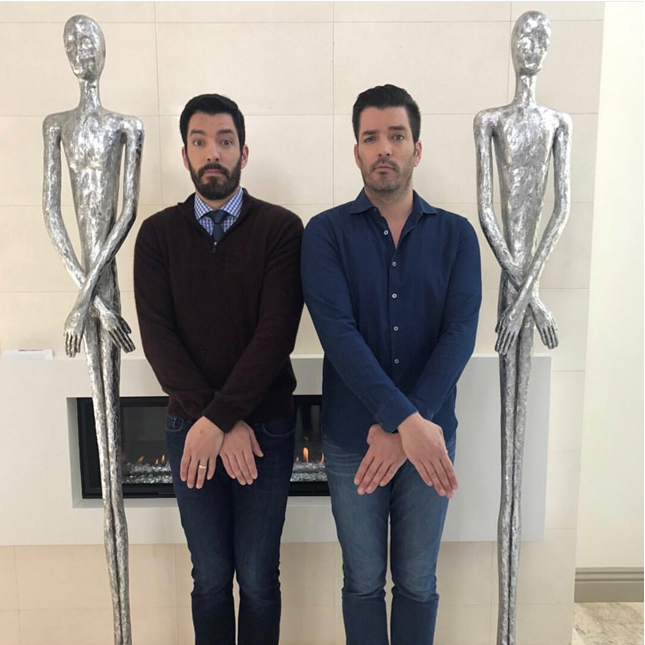 Taylors On Twitter Are We Seeing Doubles Repost Property Brothers Featuring Phillips Collection Skinny Male Sculptures