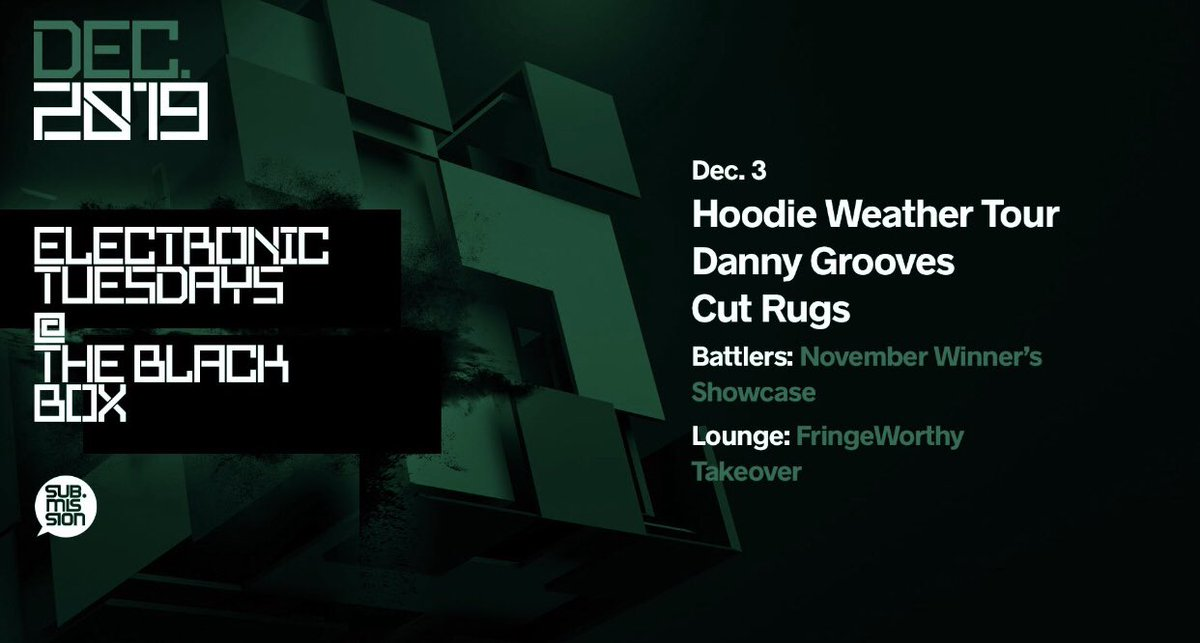 RT @TheBlackBox5280: Tonight   Hoodie Weather Tour: @dannygrooves & @cutrugs at @subdotmission #ElectronicTuesdays https://t.co/gGunD1W5oP