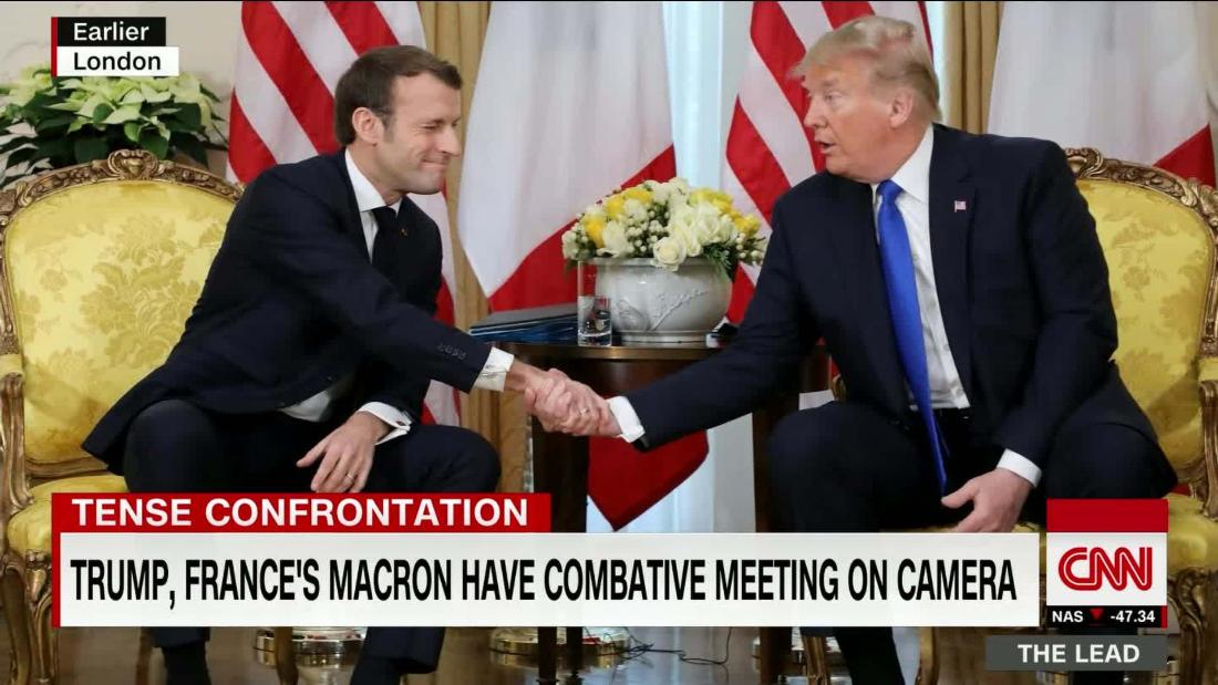 Trump & Macron have combative on-camera meeting @kaitlancollins reports cnn.it/2YbcN6z