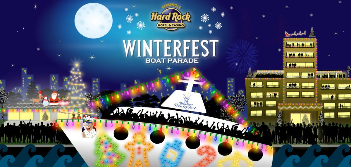 """The """"Greatest Show on H2O"""" returns next Saturday, Dec 14! The Seminole Hard Rock Winterfest Boat Parade sails the New River in downtown Fort Lauderdale, along the docks west of Stranahan House to the Broward Center for the Performing Arts! See you there! 😀🚤"""