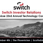 Image for the Tweet beginning: Switch $SWCH to present at