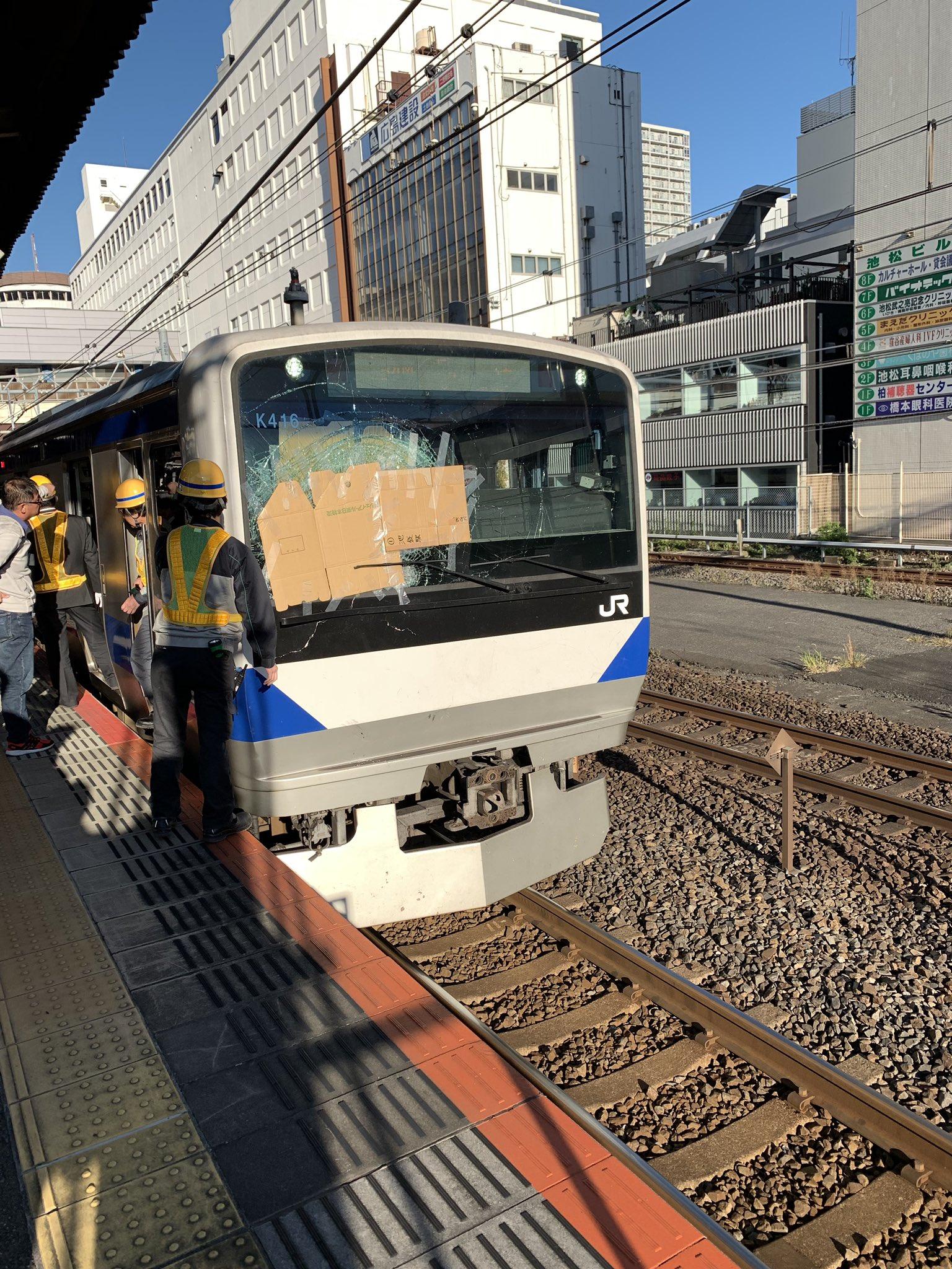 我孫子駅の人身事故の当該列車の画像