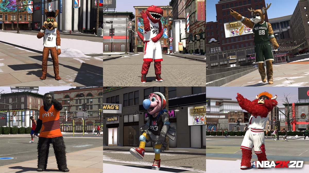 Whos got the best mascot in the league? Keep grindin that rep to unlock mascots in The Neighborhood