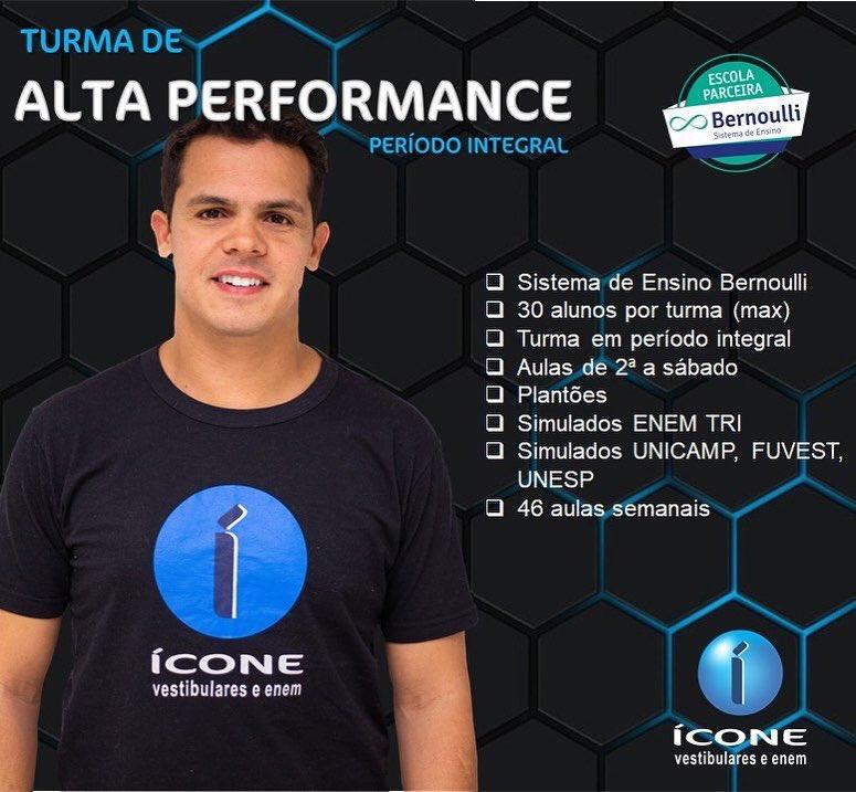 A Turma de Alta Performance é ideal para quem cursar MEDICINA ou as carreiras mais concorridas. Sistema de Ensino Bernoulli e o melhor conteúdo!Vem com a gente! #sejaicone você também! #unicamp #fuvest #unesp #enem #iconevestibulares. Saiba mais em http://www.iconevestibulares.com.brpic.twitter.com/H0PCKO9cAX