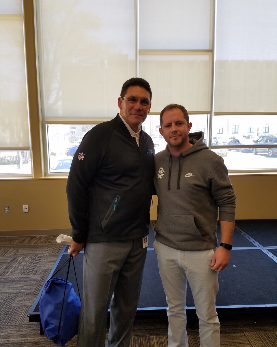 This man taught me so much about accountability and leadership. A true gentleman and genuine class act. Good luck Ron!! #RonRivera #riverboatRon @Panthers