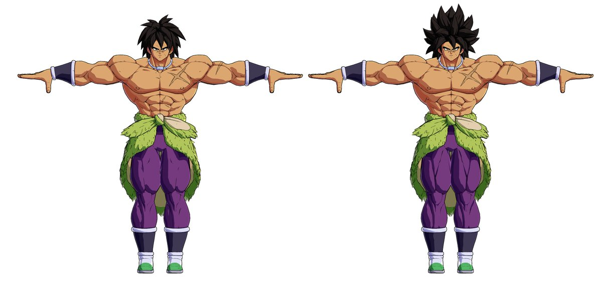FighterZ   DBS Broly got 7 different models. Base form is entirely unused ingame as far as i can tell. <br>http://pic.twitter.com/65UFG8jCuM