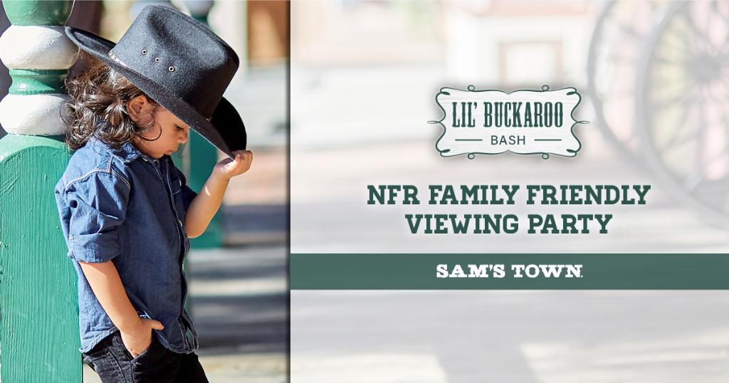 Want to bring your kiddos to watch the #NFR, but don't have tickets?! Come join us at @samstownlv for a family-friendly viewing party! Games, prizes, and special guests for you & the family to enjoy! Will we see you there? #LasVegas #RidinForTheBrand  https://t.co/bvZoV1nsqz https://t.co/eHFVY4sT3Q