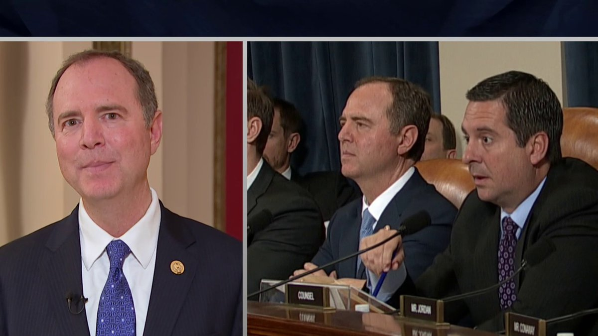 WATCH: Rep. Adam Schiff tells @TheLastWord that Rep. Devin Nunes knew at the time of the impeachment hearings that the intelligence committee had phone records linking him to Rudy Giuliani and Lev Parnas.