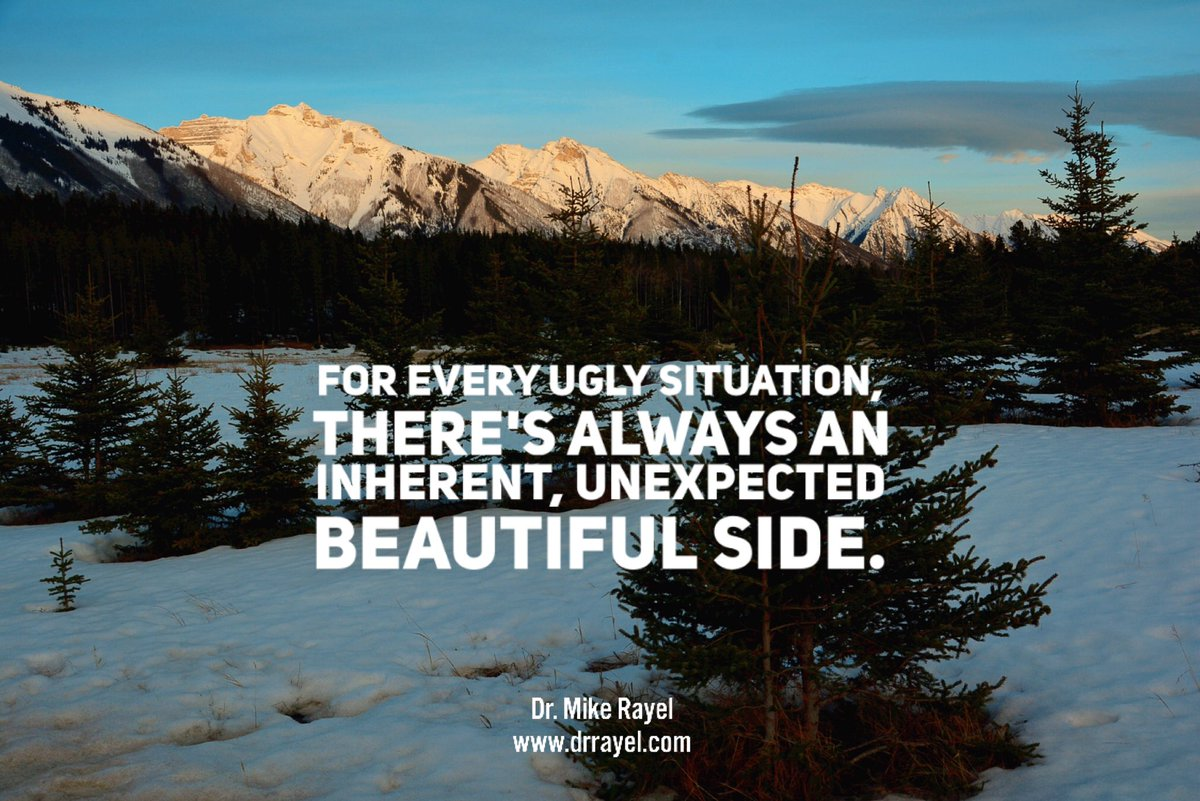 For every ugly situation, there's always an inherent, unexpected beautiful side. #inspirationalquote #wisdomquote #wisdomwords #foodforthought #motivationalmd