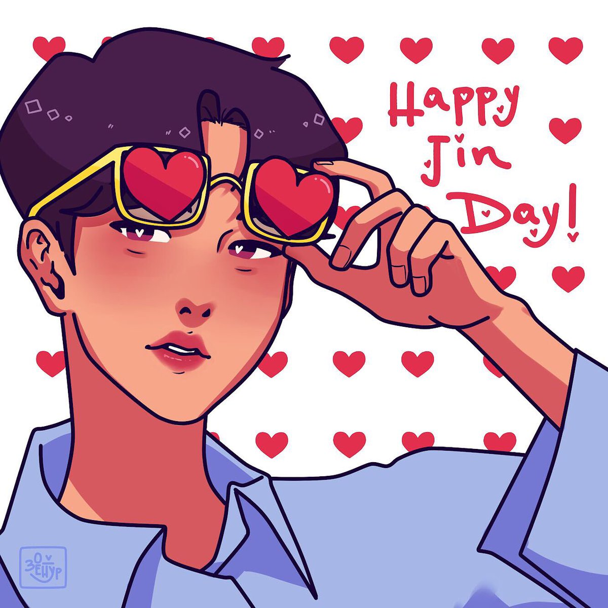 Happy birthday King ❤️ #HappyBirthdayJin #HAPPYJINDAY #TonightAndAlwaysWithJin #TonightYouareOurStar #WorldwideHandsomeJinDay #SeokjinDay #HeartsForJinDay #OurFlowerofDecember #RockJinDay #SilverVoiceJin
