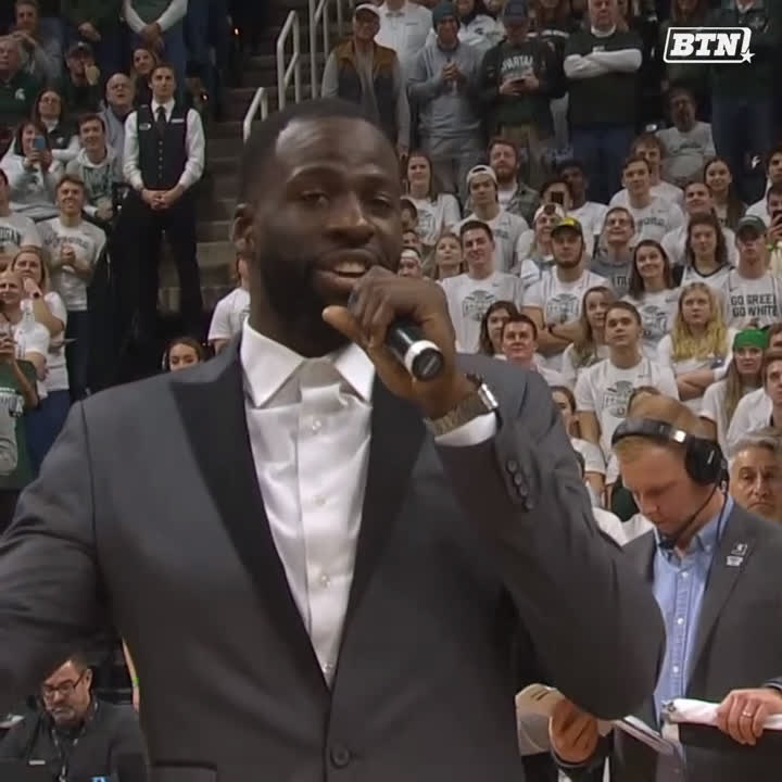 MSU, NBA Legends come out to watch Draymond Green's jersey retirement