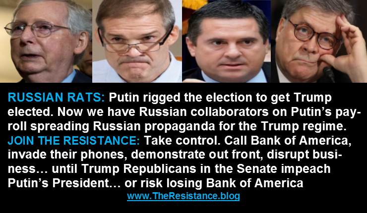 CLEAN OUT TRUMP AND THE REST OF THESE RUSSIAN RATS #CallBankAmerica #ImpeachTrump @LiberalResist #TheResistance #edinburgh @ForDemocracyUSA @MoveOn @VotoLatino #TrumpMustResign #WeThePeopleMarch #KurdishGenocide #TrumpGenocide @UNHumanRights<br>http://pic.twitter.com/ZiSx0zwxYW