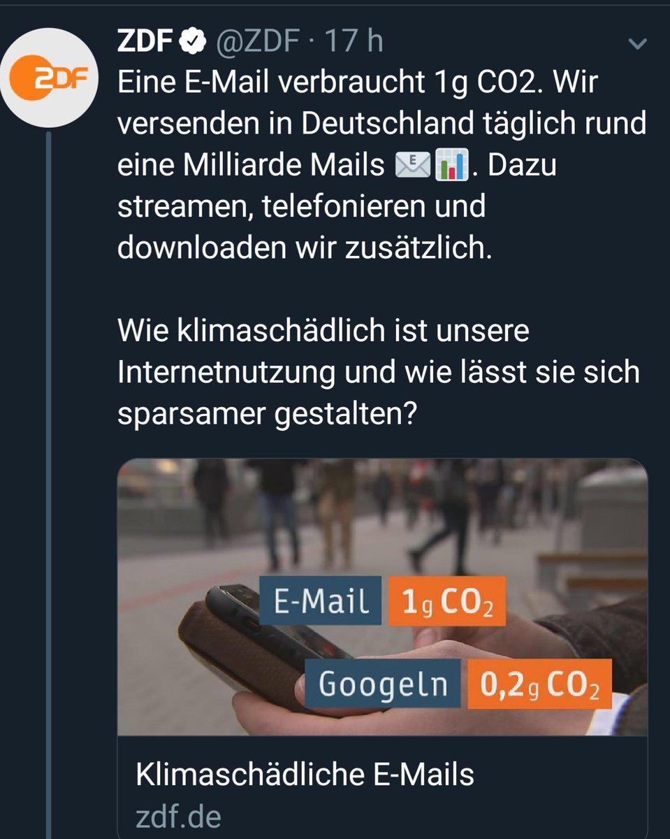Nicht vergessen, #heute was das Zeug hält gegen das böse #CO2 zu mailen.Diese Umwaldung und der große Waldaustausch müssen aufgehalten werden 👊Verbraucht CO2, erstickt übergriffige Flora.Das Wissenschafts-#ZDF schreitet mutig voran. 97% inkl. Micky Maus können nicht irren.
