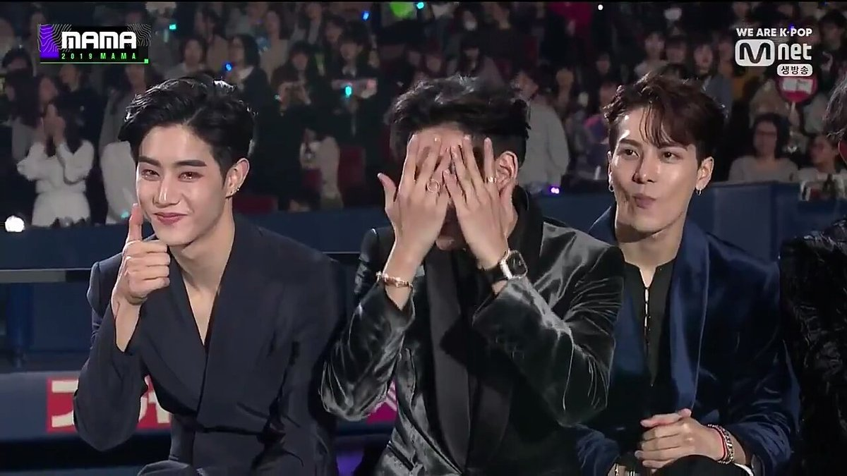 Congratulations to GOT7's Bambam for being a Meme at 2019 MAMA (Mnet Asian Music Awards)   being embarrassing   The saga continues.....   #MAMAVOTE #GOT7  @GOT7Official<br>http://pic.twitter.com/FI7NwQuqKR