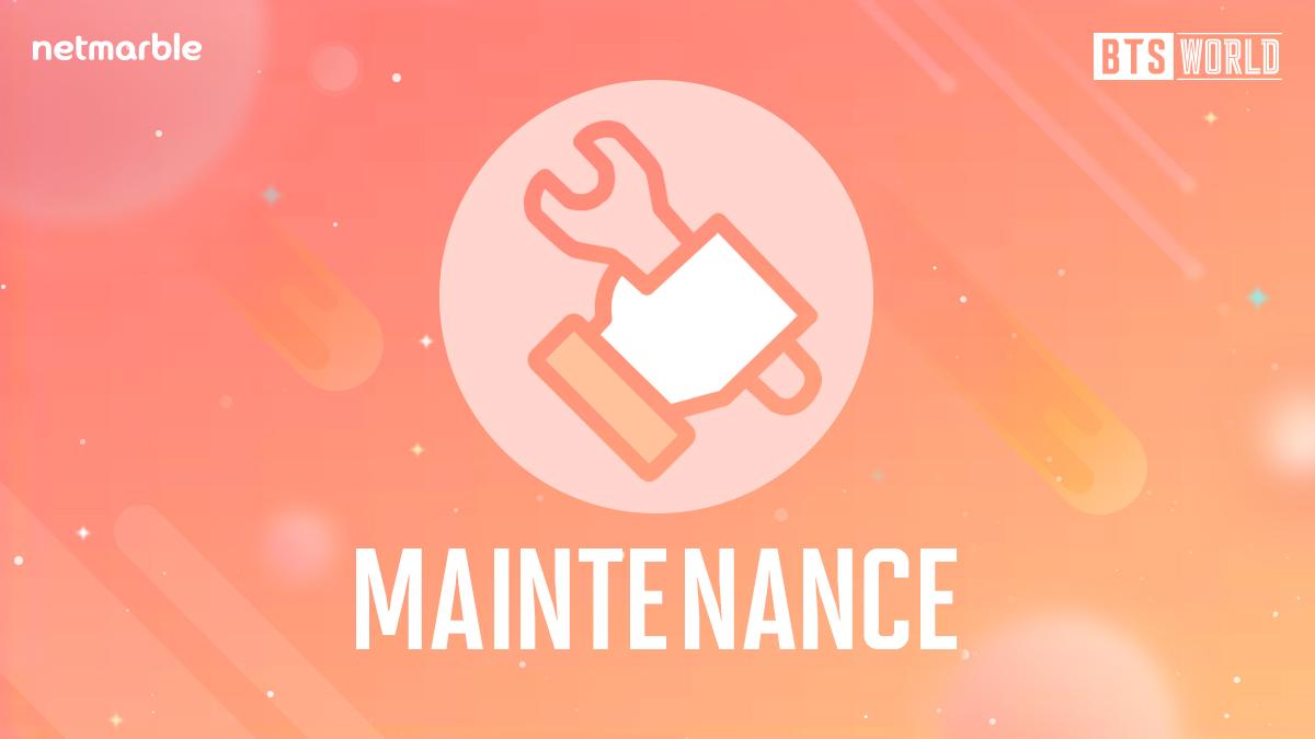 [공지] 넷마블 시스템 안정화를 위해 BTS WORLD 점검이 진행 될 예정입니다. <점검 시간> 12/5(목) 9:20 ~ 12:00 (KST) 보다 즐거운 서비스를 제공할 수 있도록 최선을 다하겠습니다. [공지 자세히 보기] ▶forum.netmarble.com/btsworld/view/…