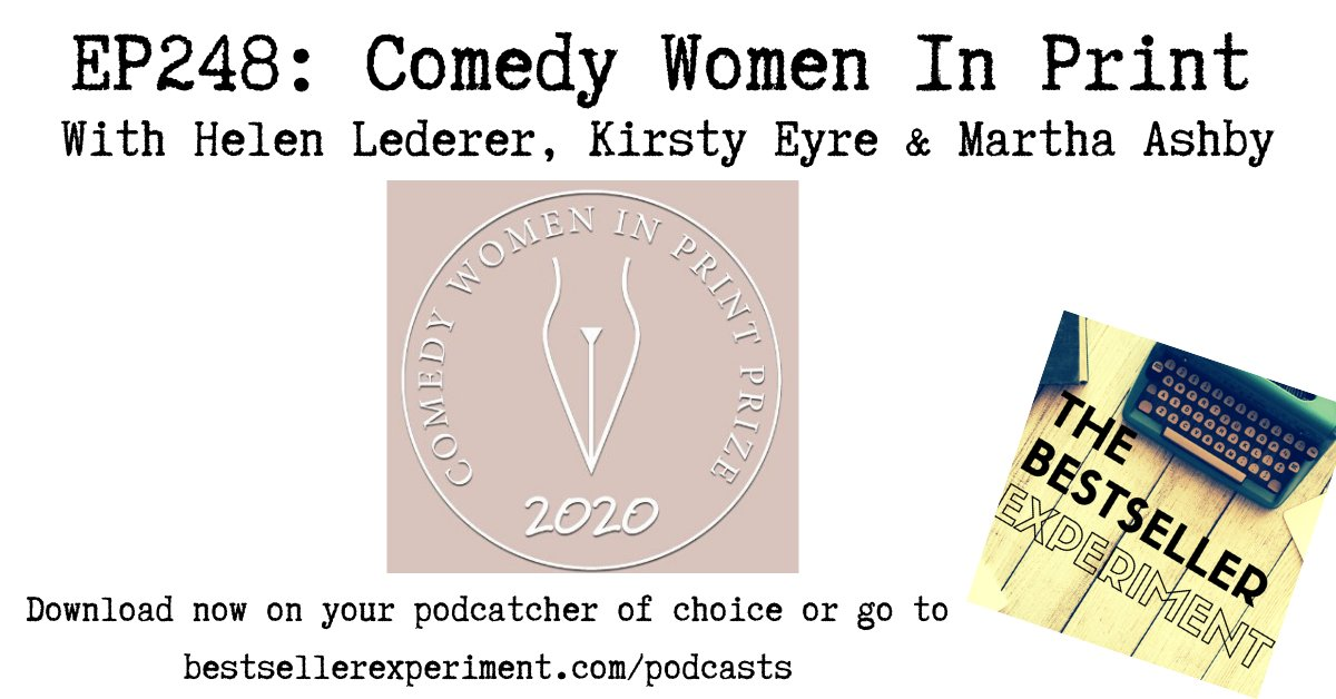 *NEW EPISODE KLAXON!* Discover how to get involved with @CWIPprize with comedy legend @HelenLederer winner @KirstyJaneEyre and editor @miashby - LISTEN NOW: https://bestsellerexperiment.com/ep248-comedy-women-in-print-with-helen-lederer-kirsty-eyre-martha-ashby/…