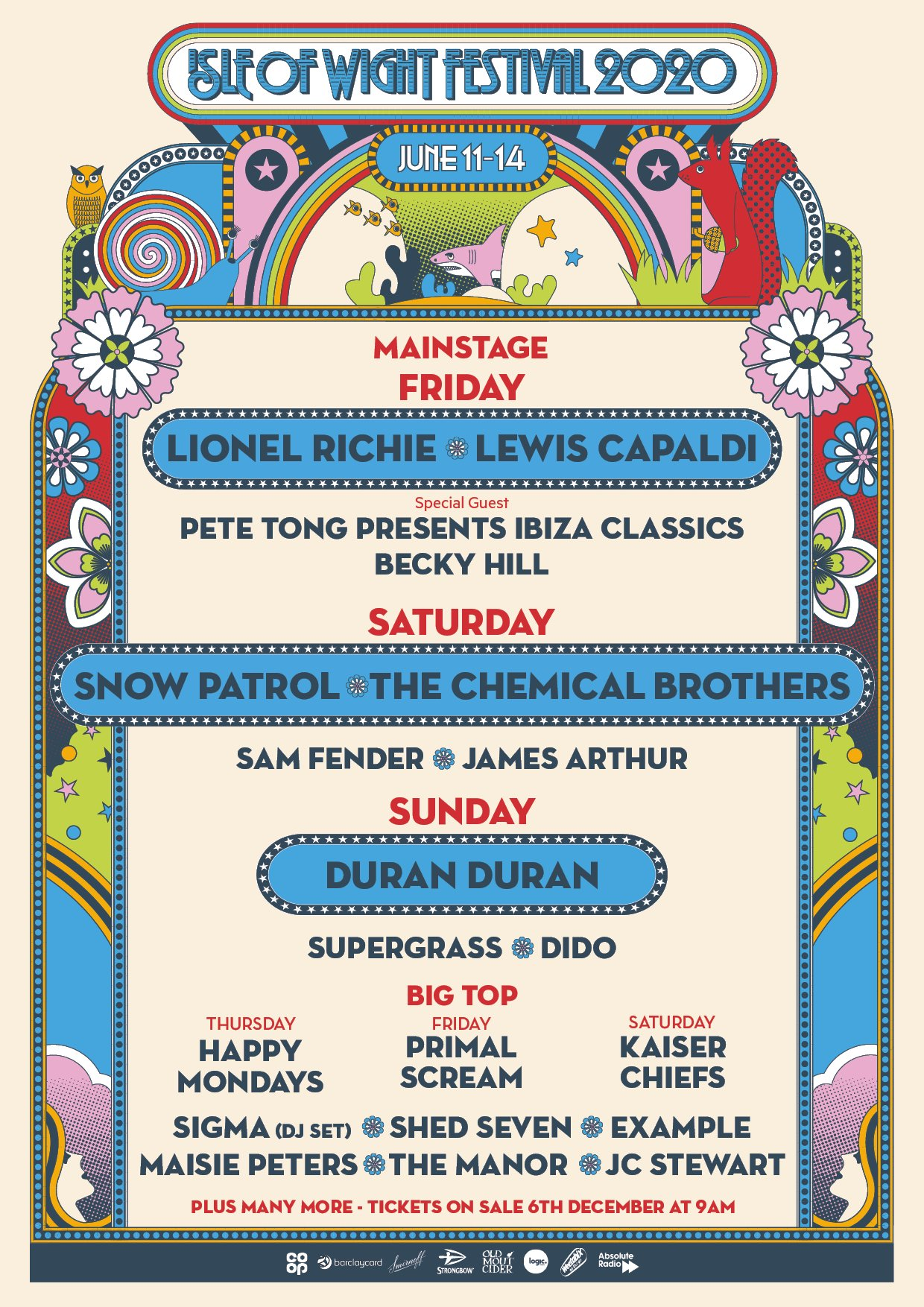 Isle of Wight Festival 2020 Lineup
