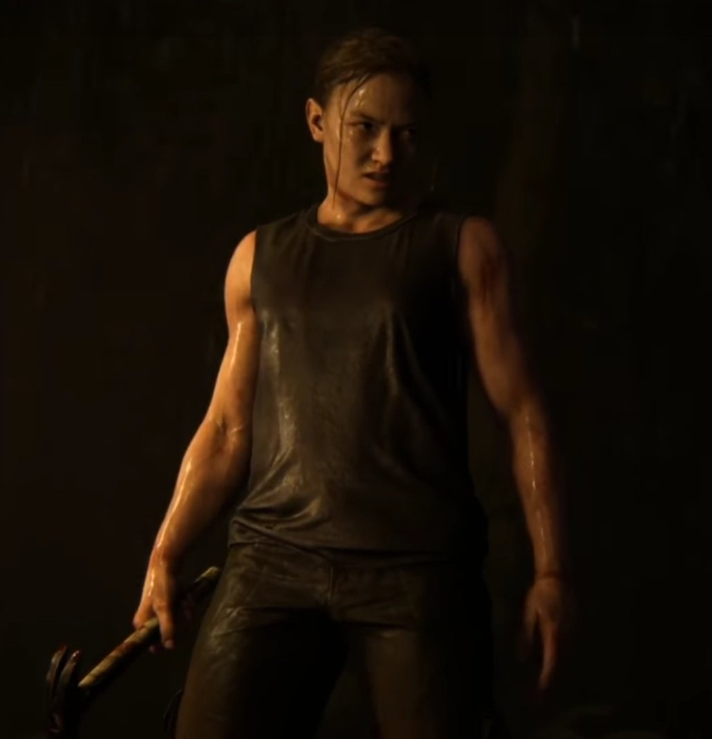 2 years later and I still think about this muscular goddess from last of us 2 trailer... <br>http://pic.twitter.com/aETaLyVAFp