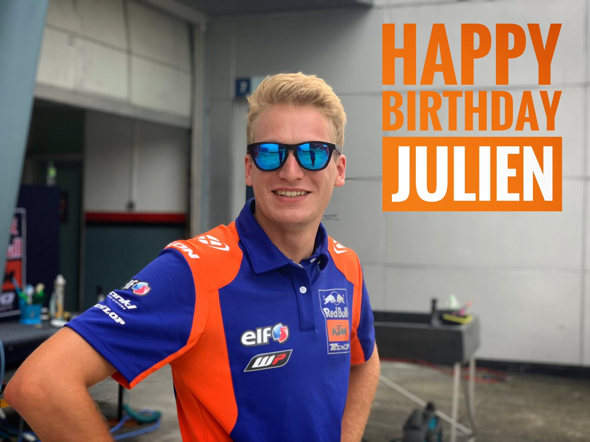 A very happy birthday to Julien 🎈🥳🎊 Have an amazing day! #JoyeuxAnniversaire #AllezJulien #Tech3Family #Tech3