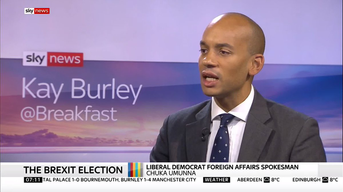 Trump has already intervened in this election. Lib Dem foreign affairs spokesperson @ChukaUmunna says the US President intervened in the #GeneralElection2019 by encouraging the Brexit Party and Conservatives to do a pact. Read more on the #GE2019 here: po.st/4yW1in