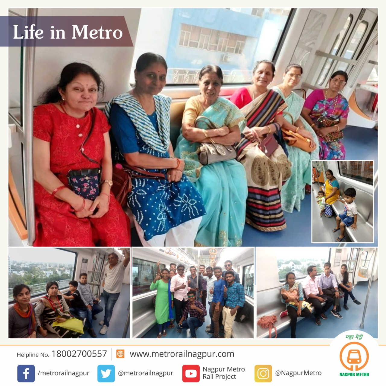 Nagpur Metro Rail On Twitter Life In Metro There Is An Unspoken Bond You Create With The Friends You Travel With Kristen Sarah Mazimetroride Nagpurmetro Happyfaces Https T Co 6unvzy6qcy