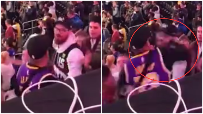 【影片】火爆!詹姆斯球迷和Jokic球迷場外鬥毆,同行女伴也相互扭打!