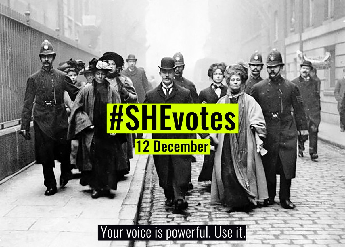 On 12 Dec one of the least likely groups to vote is young women.If young women were as likely to vote as the total population then a MILLION extra votes would be cast.Help us ensure that missing million are inspired to use their voices #GE2019. Spread the word using #SHEvotes