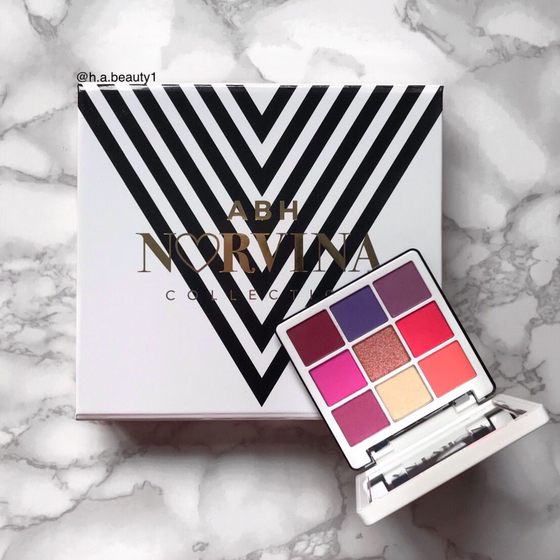 Here is the @norvina1 mini volume 1 palette, it's a really stunning palette and the packaging is amazing  . . @ABHcosmetics #abhprlist #thelist #abh #norvinamini #norvina #norvinapalette #norvinavol1 #eyeshadowpalette #motd #makeup4glam #makeupjunkie #makeupcollection #beautypic.twitter.com/SyRKzjhrsg