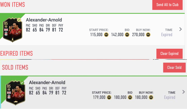 The time of day for trading is one of the keys to success and finding deals. Here's one I got this morning. Sold in 5 minutes for good profit. #fifa20 #fut #fifatrading #futtradingtips pic.twitter.com/o4nd06v8v9