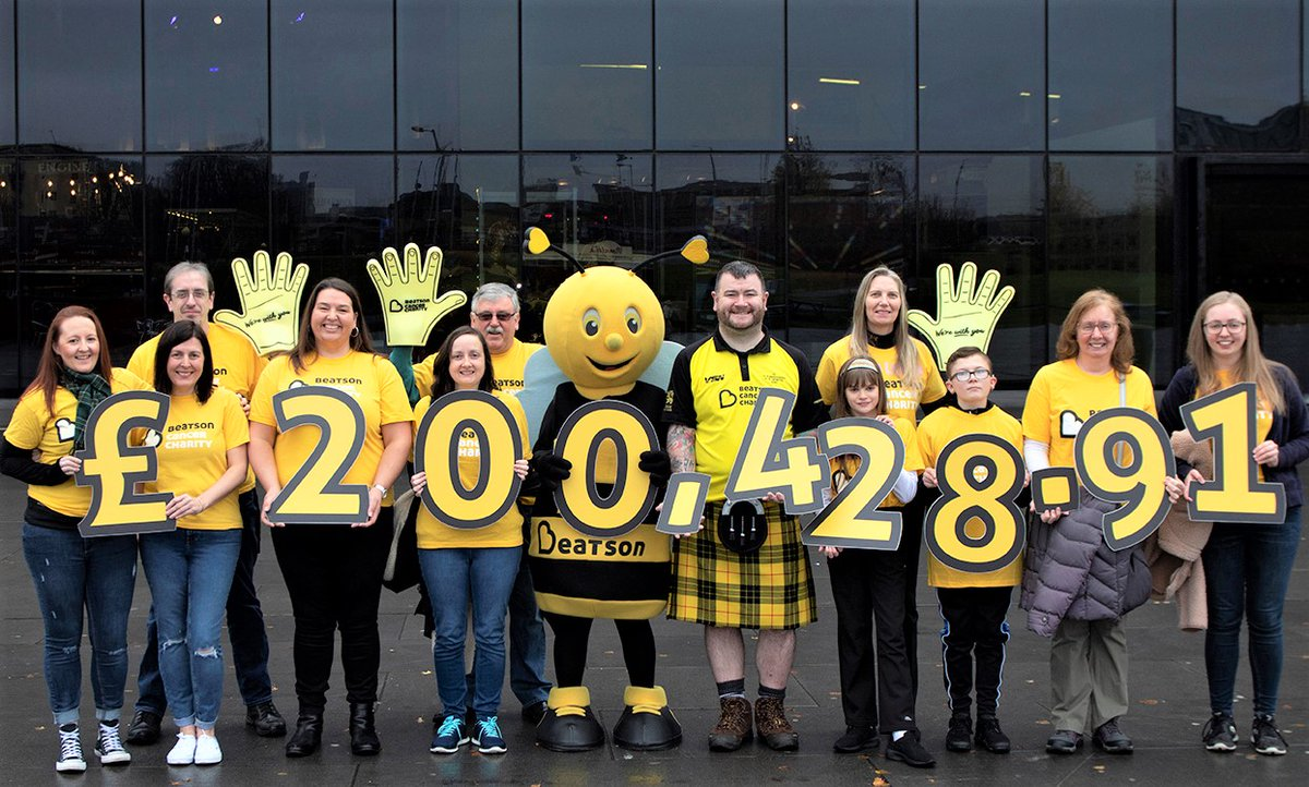 A HUGE thanks to all 634 of you who took part in @thekiltwalk this year for Beatson Cancer Charity - you helped to raise a phenomenal £200, 248.91 so we can continue to provide support for patients and their families!! 💛  Fancy joining us in 2020? 👉