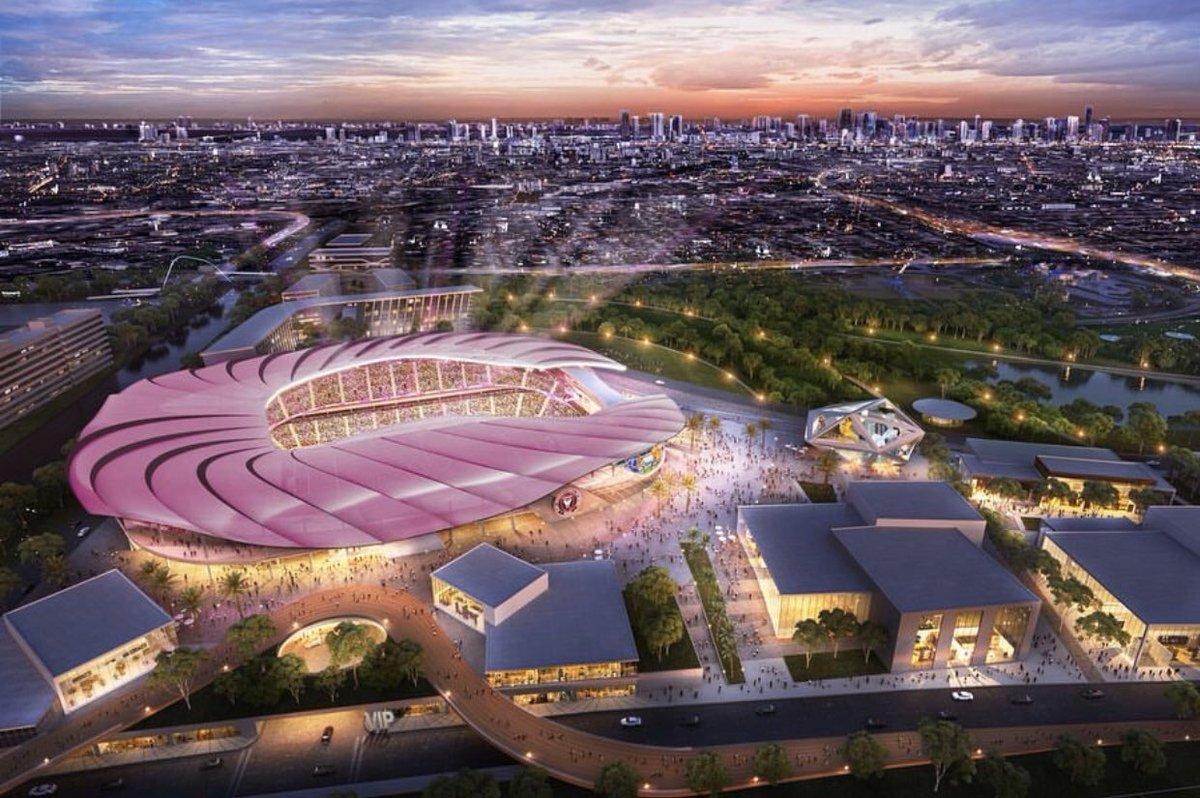 Le futur stade de l'Inter Miami de David Beckham. 👌🤩