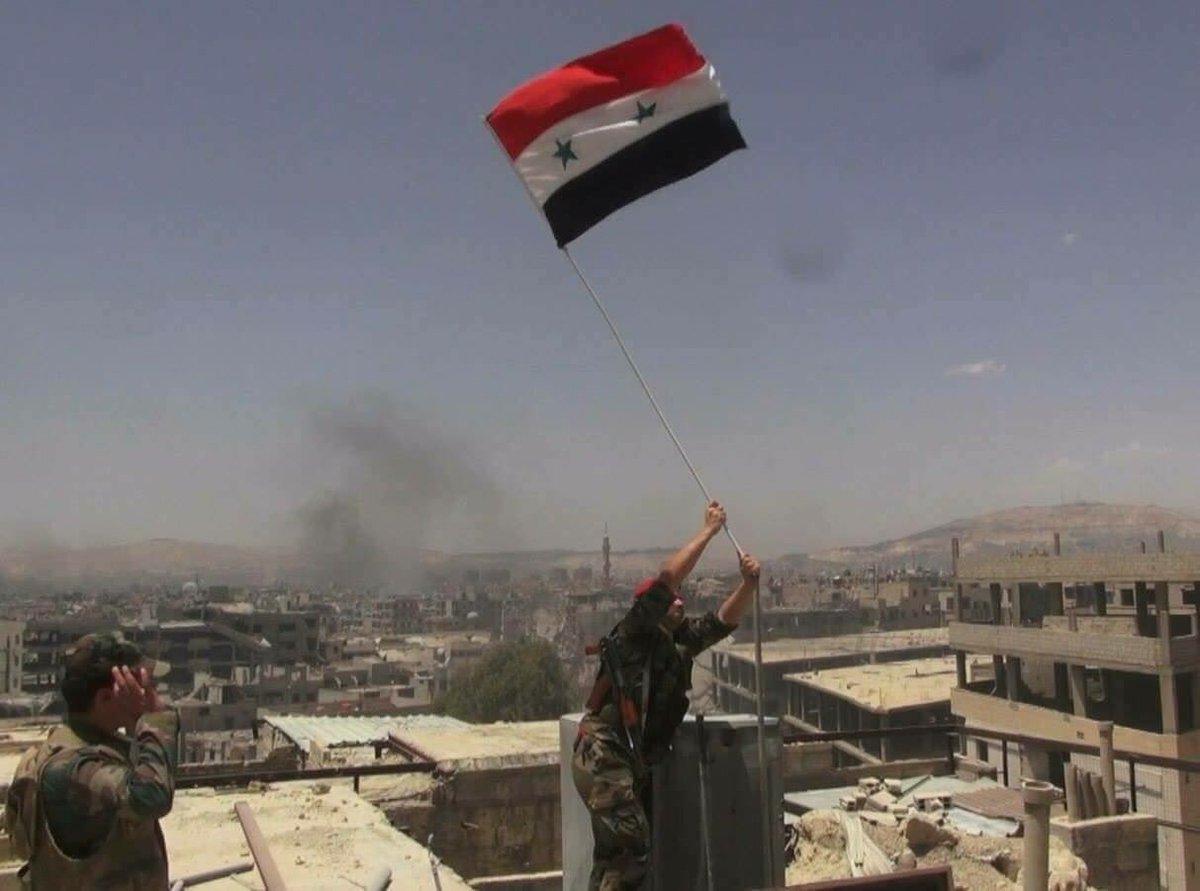 "Good news!! #SAA recapture the ""Al-Katibat Al-Mahjura"" air defence base. #TrumpGenocide <br>http://pic.twitter.com/UOrELfsssP"