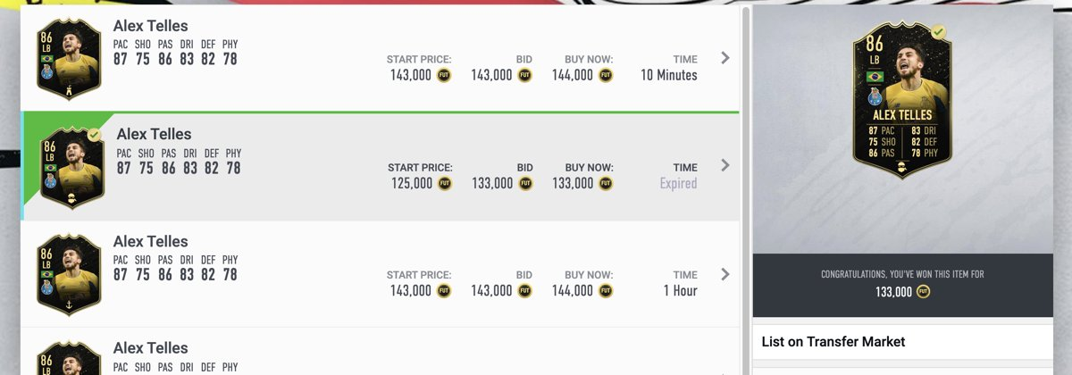 Nice pick up on IF Telles with a Shadow for rewards day tomorrow. Gutted as missed one for 120K moments before.   #fut20 #fifatrading #futtrading #fifatradingtips pic.twitter.com/SJnUhQ7cTL