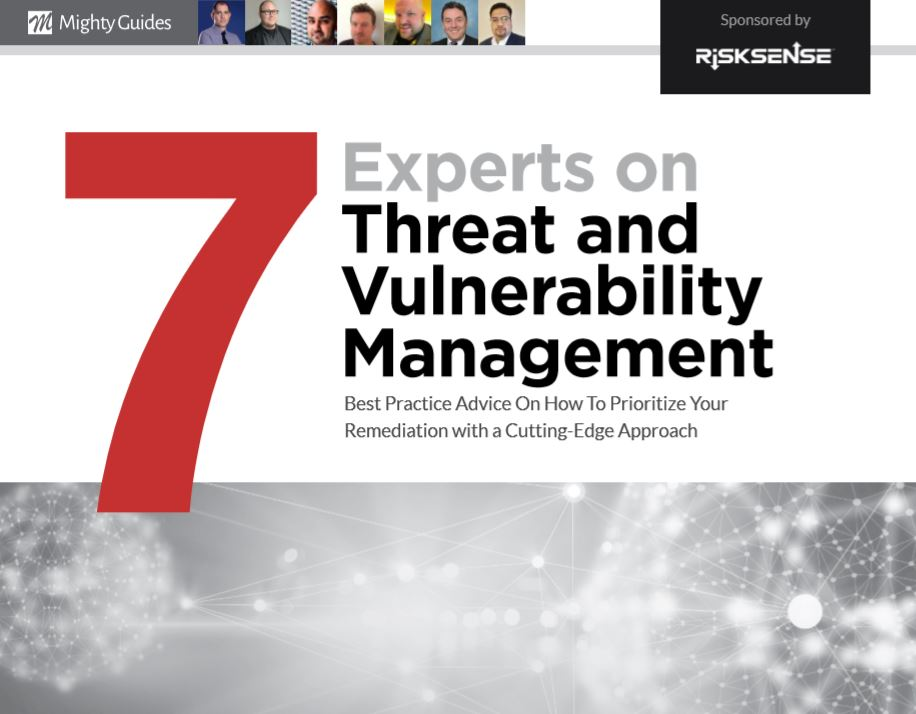 7 Experts on Threat and Vulnerability Management.  Read this important ebook to discover best practice advice on how to prioritize your #remediation with a cutting-edge approach. #vulnerabilitymanagement @Risksensehttps://mightyguides.com/risksense-7-experts-on-threat-and-vulnerability-management/…