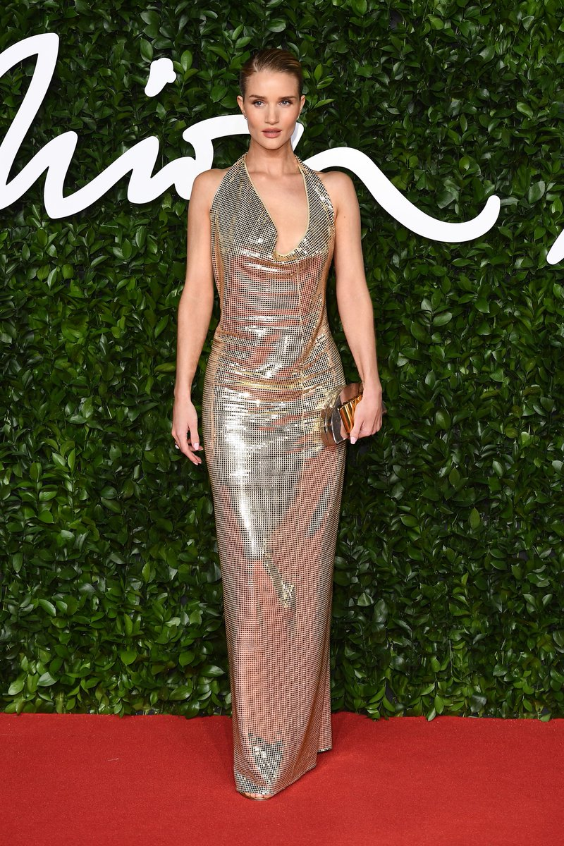 Brand of the Year Award presenter @RosieHW on The #FashionAwards 2019 red carpet. To see more red carpet highlights visit bit.ly/34PQuWu