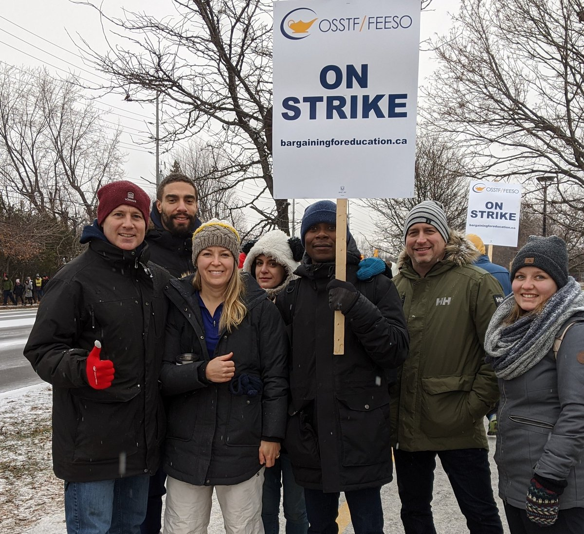 Proud to stand up for public education with my fellow teachers. @Sflecce, do the right thing and stop the cuts. #OSSTF #onted #onpoli #NoCutsToEducation #FairDealNow