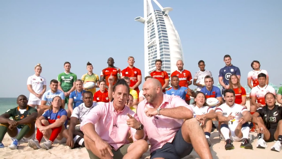 Join @seanny202 and @KT_Ten10 for the first That Sevens Show, all the way from a sun-drenched beach in Dubai ☀️ #HSBC7s @HSBC_Sport
