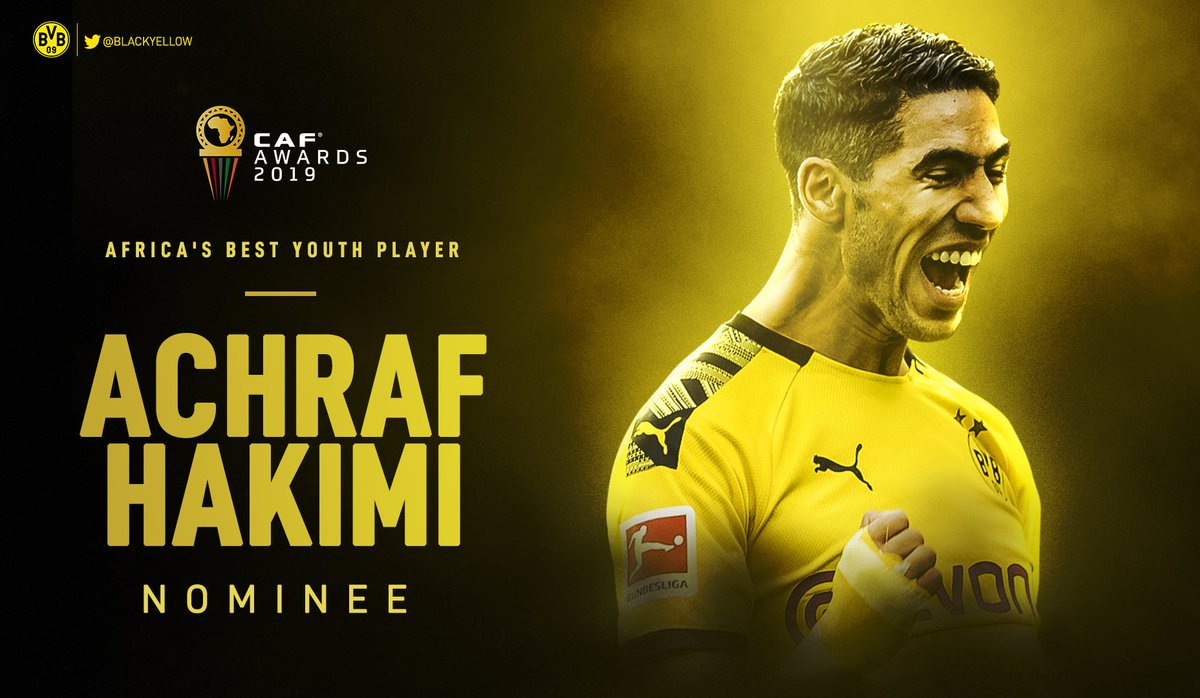 Congratulations to Achraf Hakimi who was named to the five-man shortlist for African Youth Player of the Year!   Moving on up!