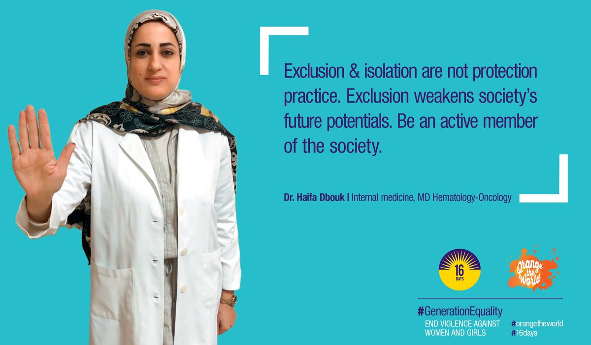 #UNIFIL personnel & partners are adding their voices to the growing global community of people who are breaking the silence around #GBV. This is Dr. Haifa Dbouk, who has partnered w/ UNIFIL in raising awareness about breast cancer. http://unwo.men/SdMB30pTv6e #orangetheworld #16Days