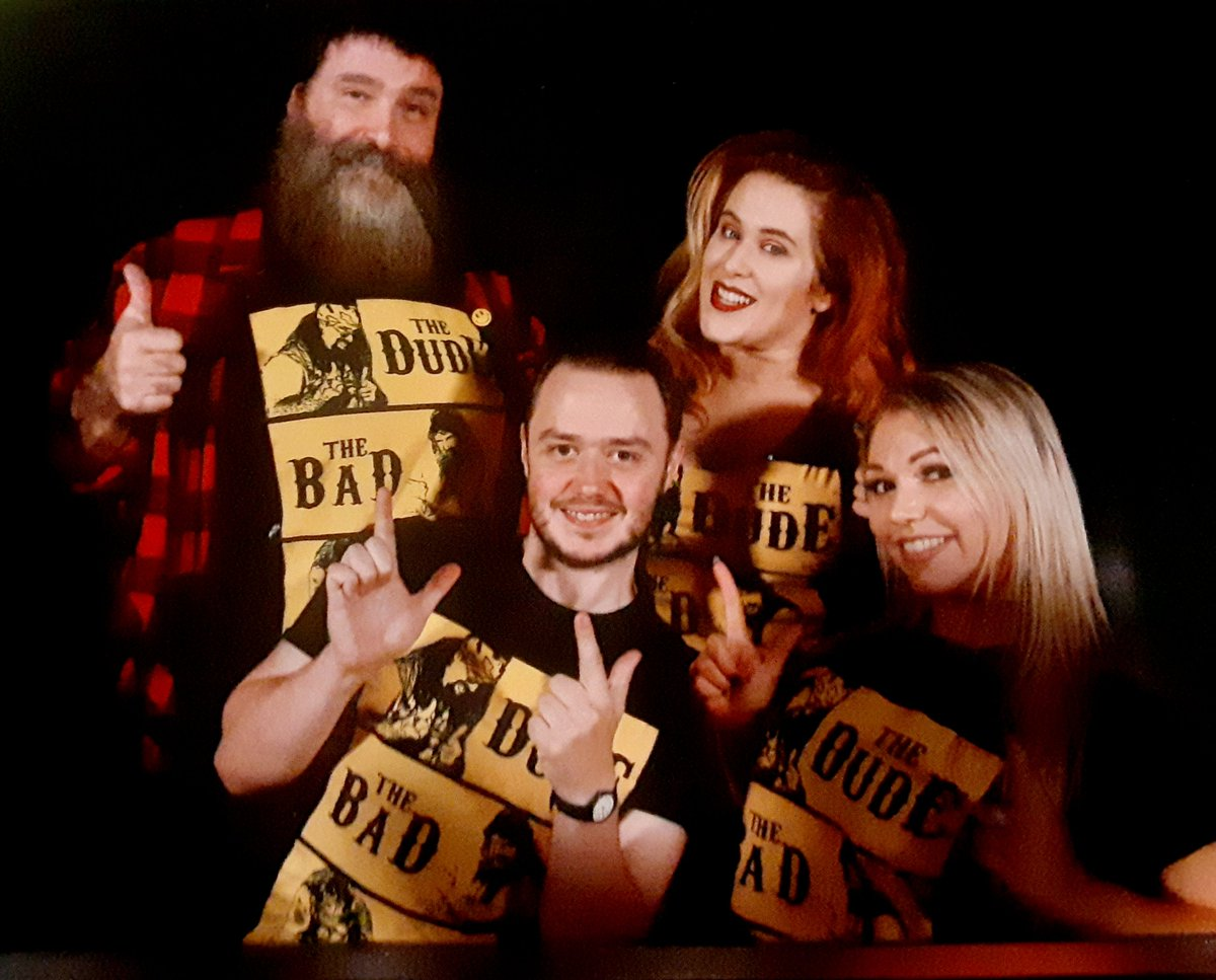 THE DUDE...THE BAD...THE UGLY!Rocking this cool new shirt with the @Inside_TheRopes crew on the #NiceDayTourWe're in SOLD-OUT #Glasgow tonight!