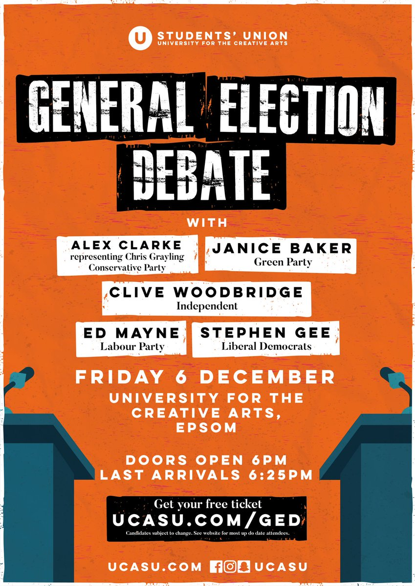 test Twitter Media - Panel lineup confirmed for our #Epsom #GE19 hustings this Friday evening: Janice Baker (@SurreyGreens), Alex Clarke (representing Chris Grayling, @EpsomEwellCA), Stephen Gee (@EpsomLibDem), Ed Mayne (@ee_labour) and @CliveEwell. Free tickets available at https://t.co/wSQjPoicfo https://t.co/uQPYNUUYN5