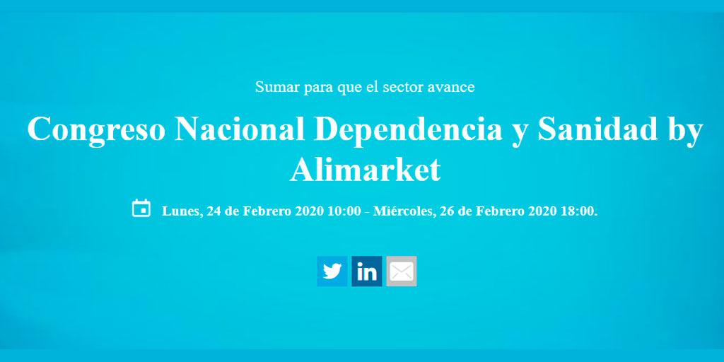 test Twitter Media - 📣¡Inscríbete al Congreso Nacional Dependencia y Sanidad by @Alimarket!  Se tratarán estrategias empresariales y de gestión asistencial en atención a la #dependencia.  📆Del 24 al 26 de febrero 2020. 📍Feria de Madrid - IFEMA. 🔎https://t.co/50lr9pSh4k #PersonasMayores https://t.co/KNQVNppevQ